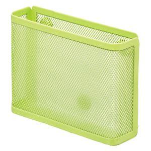 (まとめ) リヒトラブ マグネットポケット メモ・ハガキ 黄緑 A-7391-6 1個 【×10セット】