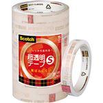 (まとめ) 3M スコッチ 超透明テープS15mm×35m BK-15N 1パック(10巻) 【×5セット】