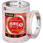 (まとめ) 3M スコッチ 超透明テープS12mm×35m BK-12N 1パック(10巻) 【×10セット】