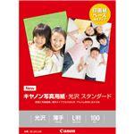 (まとめ)キヤノン 写真用紙・光沢 スタンダードSD-201L100 L判 0863C001 1冊(100枚) 【×10セット】
