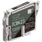 (まとめ)エコリカ リサイクルインクカートリッジ[エプソン:ICBK23互換] ECI-E23B 1個 【×5セット】