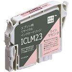 (まとめ)エコリカ リサイクルインクカートリッジ[エプソン:ICLM23互換] ECI-E23LM 1個 【×5セット】