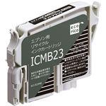 (まとめ)エコリカ リサイクルインクカートリッジ[エプソン:ICMB23互換] ECI-E23MB 1個 【×5セット】