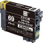 (まとめ)エコリカ リサイクルインクカートリッジ[エプソン:ICBK69互換] ECI-E69B 1個 【×5セット】