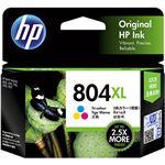 (まとめ)HP HP804XL インクカートリッジカラー(増量) T6N11AA 1個 【×2セット】