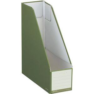 (まとめ)コクヨ ファイルボックス(NEOS)スタンドタイプ A4タテ 背幅102mm オリーブグリーン フ-NEL450DG 1セット(10冊) 【×3セット】