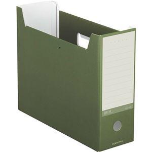 (まとめ)コクヨ ファイルボックス(NEOS)A4ヨコ 背幅102mm オリーブグリーン A4-NELF-DG 1セット(10冊) 【×3セット】