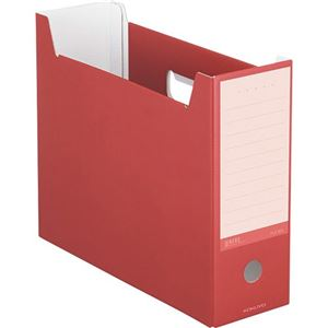 (まとめ)コクヨ ファイルボックス(NEOS)A4ヨコ 背幅102mm カーマインレッド A4-NELF-R 1セット(10冊) 【×3セット】