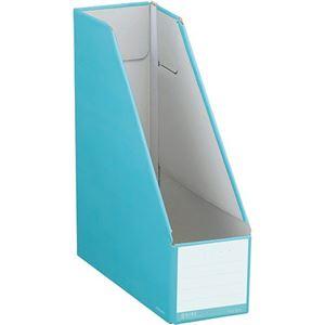 (まとめ)コクヨ ファイルボックス(NEOS)スタンドタイプ A4タテ 背幅102mm ターコイズブルー フ-NEL450B 1セット(10冊) 【×3セット】