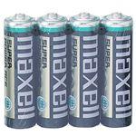 (まとめ)マクセル マンガン乾電池 BLACK単3形 R6PU(BN) 4P 1パック(4本)【×30セット】