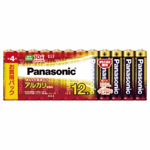 (まとめ)パナソニック アルカリ乾電池 単4形LR03XJ/12SW 1パック(12本)【×5セット】 - 拡大画像