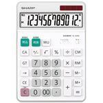 (まとめ)シャープ エルシーメイト電卓 12桁セミデスクトップ EL-S452-X 1台【×3セット】