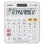 (まとめ)カシオ 計算チェック機能付き電卓 12桁MJ-120W-N 1台【×3セット】