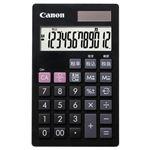 (まとめ)キヤノン 電卓 LS-12T 12桁手帳サイズ ブラック 7427B001 1台【×5セット】