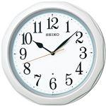 (まとめ)セイコークロック 電波掛時計白パール塗装 KX812W 1台【×2セット】