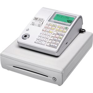 カシオ 電子レジスター ホワイトTE-400-WE 1台