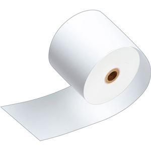 (まとめ)TANOSEE サーマルレジロール紙ノーマル保存 幅80mm×長さ63m 直径71mm 芯内径12mm 1パック(3巻)【×10セット】 - 拡大画像
