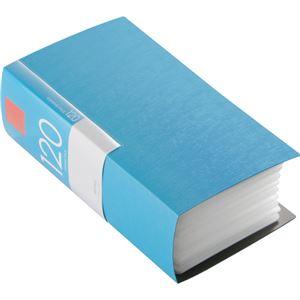 (まとめ)バッファローCD&DVDファイルケース ブックタイプ 120枚収納 ブルー BSCD01F120BL 1個【×5セット】 - 拡大画像