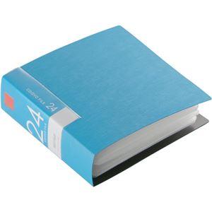 (まとめ)バッファローCD&DVDファイルケース ブックタイプ 24枚収納 ブルー BSCD01F24BL 1個【×10セット】 - 拡大画像