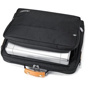 サンワサプライ PCキャリングバッグ15.6型ワイド対応 ブラック BAG-C38BKN