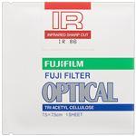 (まとめ)富士フイルム光吸収・赤外線透過フィルター 86号 75×75mm IR 86 7.5 X 1 1枚【×3セット】