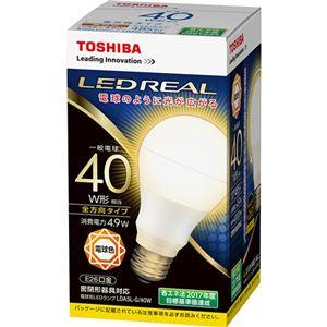 (まとめ)東芝ライテック LED電球 一般電球形40W形相当 4.9W E26 電球色 LDA5L-G/40W 1個【×5セット】