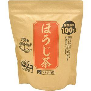 ますぶち園 オキロン 三角ティーバッグほうじ茶 4g 1セット(500バッグ:100バッグ×5袋) - 拡大画像