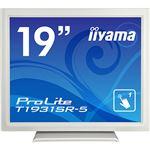 iiyama ProLite19型スタンドタイプタッチパネル液晶(抵抗膜タッチ方式)ピュアホワイト T1931SR-W5 1台