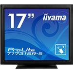 iiyama ProLite17型スタンドタイプタッチパネル液晶(抵抗膜タッチ方式)マーベルブラック T1731SR-B5 1台