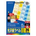 コクヨ カラーレーザー&カラーコピー用光沢紙ラベル A4 24面 31×62mm LBP-G6924 1セット(100シート:20シート×5冊)