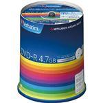 バーベイタム データ用DVD-R4.7GB 1-16倍速 ホワイトワイドプリンタブル スピンドルケース DHR47JP100V3 1パック(100枚)