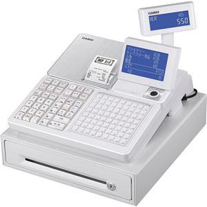 カシオ 電子レジスター ホワイトSR-C550-4SWE 1台 - 拡大画像