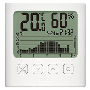 タニタ グラフ付きデジタル温湿度計ホワイト TT-580-WH 1個 - 拡大画像