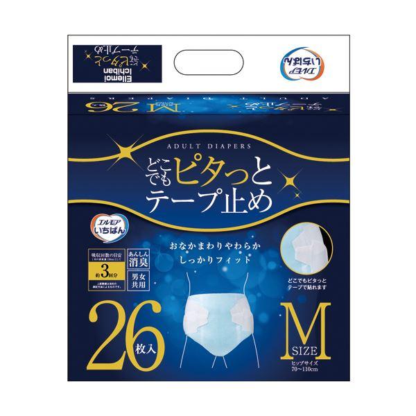 カミ商事 エルモア いちばんどこでもピタっとテープ止め Mサイズ 1セット(104枚:26枚×4パック)