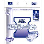 カミ商事 エルモア いちばん幅広簡単テープ止め M 1セット(80枚:20枚×4パック)