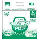 カミ商事 エルモアいちばん パンツレギュラー Lサイズ 1セット(108枚:18枚×6パック)