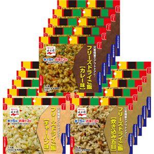 永谷園 業務用フリーズドライごはん3種セット(カレー、炊き込み五目、チャーハン 各5食) 1ケース