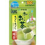 (まとめ)伊藤園 おーいお茶 さらさら抹茶入り緑茶80g/パック 1セット(3パック)【×2セット】