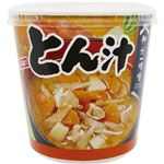 (まとめ)神州一味噌 おいしいね!!とん汁カップ 59g 1セット(18食:6食×3ケース)【×2セット】