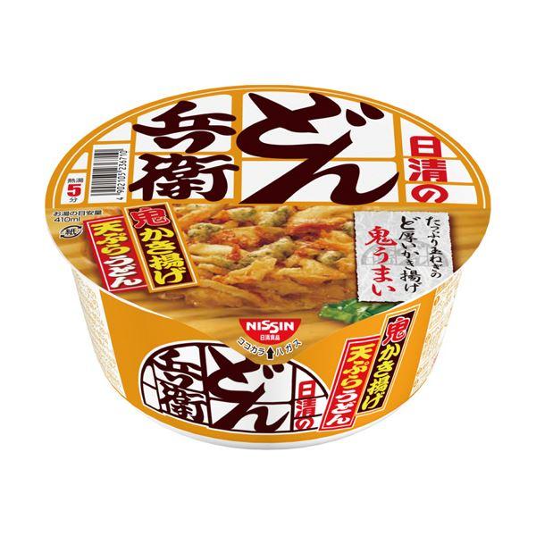 (まとめ)日清食品 日清のどん兵衛かき揚げ天ぷらうどん 97g 1ケース(12食)【×2セット】