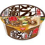 (まとめ)日清食品 日清のどん兵衛 肉うどん87g 1ケース(12食)【×2セット】