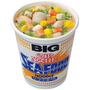 (まとめ)日清食品 カップ ヌードルシーフードヌードル ビッグ 104g 1ケース(12食)【×2セット】 - 拡大画像