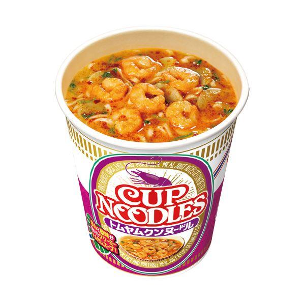 (まとめ)日清食品 カップ ヌードルトムヤムクンヌードル 75g 1ケース(12食)【×2セット】