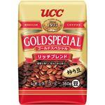 (まとめ)UCC ゴールドスペシャルリッチブレンド 360g(豆)/袋 1セット(3袋)【×2セット】