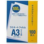 (まとめ)オーケー企画 ラミネートフィルム A3 100μ OK-DD00005 1パック(100枚)【×2セット】