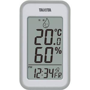 (まとめ)タニタ デジタル温湿度計 グレーTT559GY 1個【×2セット】 - 拡大画像