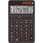 (まとめ)AURORA 中型電卓 12桁卓上タイプ ブラック DT700TXK 1セット(3台)【×2セット】