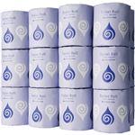 (まとめ)TANOSEE トイレットペーパー水に流せる芯&包装紙 シングル 65m 1セット(72ロール:24ロール×3ケース)【×2セット】