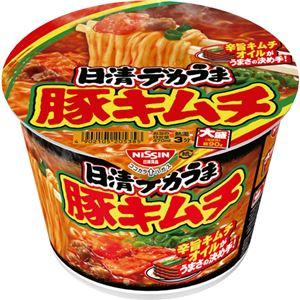 (まとめ)日清食品 日清デカうま 豚キムチ 1ケース(12食)【×4セット】 - 拡大画像