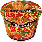 (まとめ)日清食品 日清デカうま 豚キムチ 1ケース(12食)【×4セット】